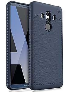 Coque Huawei Mate 10 Pro, KuGi [Shock Absorption] Ultra Doux Nouveau design Luxury Case Housse Etui TPU Silicone coque TPU souple Case Cover pour Huawei Mate 10 Pro Smartphone (bleu)
