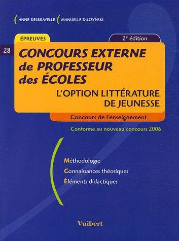 Concours externe de Professeur des Ecoles : L'option littérature de jeunesse