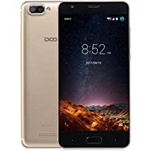 Móviles y Smartphones Libres, DOOGEE X20L Smartphone Libre, 5.0 Pantalla HD IPS - 4G Android 7.0 Telefonos - MT6737 4xCortex-A53, 1.25GHz - 2GB RAM+16GB ROM - 5.0MP Cámara - Batería de 2580mAh (Oro)