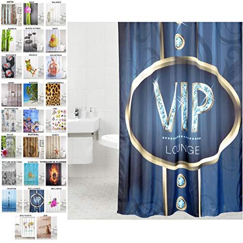 VIP Lounge Duschvorhang inkl. 12 Ringe 180 x 200 cm thumbnail