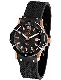 Dogma G7023 - Reloj Caballero Movimiento Quarzo Correa Caucho Negro