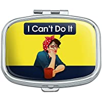 I Can 't Do it Rosie The Riveter Vintage Retro Rechteck kraftlosigkeit Pille Fall Schmuckkästchen Geschenk-Box preisvergleich bei billige-tabletten.eu