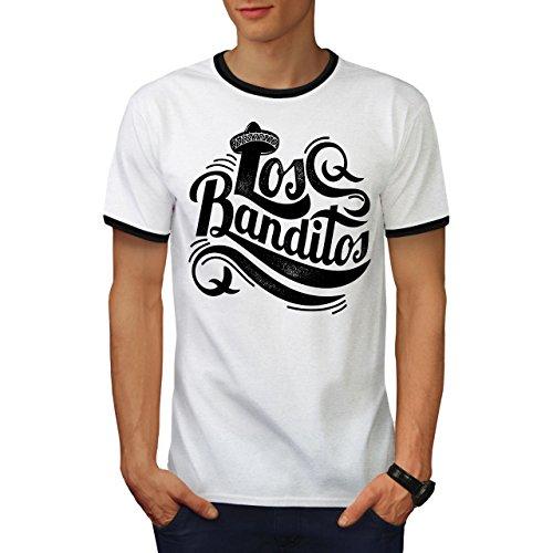 wellcoda Bandit Gang Mexiko Slogan Männer T-Shirt Zurück Gringo Grafikdesign-T-Stück (Geld Gang Shirt)