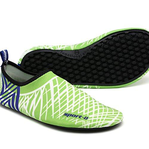 LvRao Unisex Sommer Aqua Wasser Weiche Schuhe Schwimmen Pool Schuhe Aquaschuhe Grün