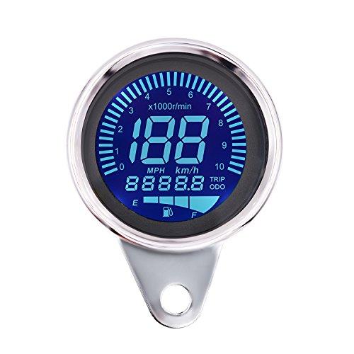 ShinePick 10000 RPM Velocimetro Moto LCD Aluminum Velocímetro + Tacómetro Digital 7...