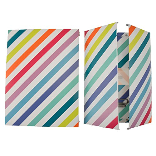 incidence-paris-42319-boite-technicolor-rayures-plastique-multicolore-taille-3-345-x-26-x-14-cm