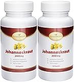 SPAR-PACK 2x Johanniskraut-Extrakt 2000 mg *inclusive natürlichem Hypericin - Das Original nach Johannes dem Täufer * 200 vegetarische Kapseln hochdosiert