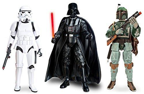 Star Wars Talking Darth Vader Boba Fett Stormtrooper 13.5 Action Figure Set by Disney