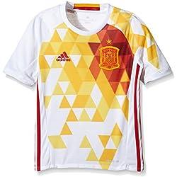 adidas Uefa Euro 2016 Camiseta Selección Española de Futbol 2ª Equipación 2016/2017, Niños, Blanco / Rojo / Amarillo, 164