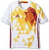 adidas Kinder UEFA Euro 2016 Spanien Auswärtstrikot Replica, weiß/Rot, 152, AA0814