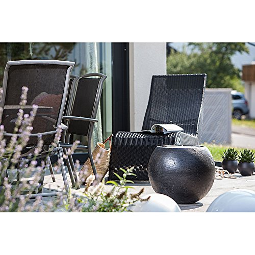 Heissner Gartenbrunnen Ball LED Black