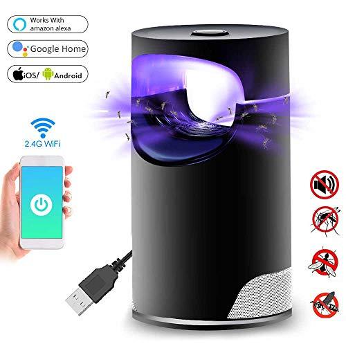 Womdee Lámpara para Matar Mosquitos, 2019 Nuevo WiFi Inteligente Fotocatalizador USB Bug...