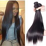 Best Relaxer cheveux pour cheveux noirs - Richair 100% Human Hair 3Bundles Tissage Indien Lisse Review