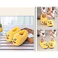 Emoji Plush Slipper,Plush Home Slippers, Soft Cute Cartoon Naughty Antislip Indoor Slippers Winter Warm Shoes for Women and Men