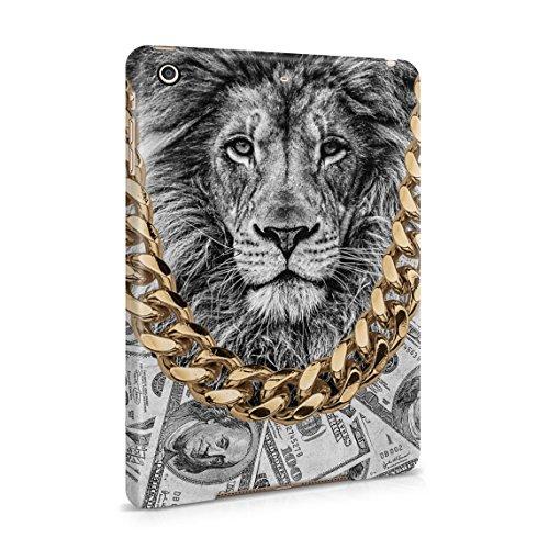Gold Chains Lion King Cash Billionaire Luxury High Life Swag Dope Trill Dünne Rückschale aus Hartplastik für iPad Mini 2 & Mini 3 Tablet Hülle Schutzhülle Slim Fit Case cover (Gold Cheetah Wild)