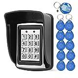 10 RFID-Keychians + Wasserdichter Regen Cover + Rfid Metal Keypad unterstützt 1000 User Wiegand-26-Schnittstelle (Input / Output)