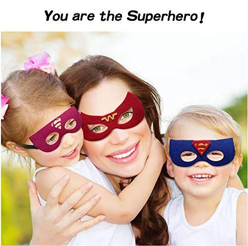 51W9Pz9EeDL - Ventdest Máscaras de Superhéroe, Suministros de Fiesta de Superhéroes, Máscaras de Cosplay de Superhéroe, Máscaras de Media Fiesta para Niños o Niños Mayores de 3 Años - 32 Piezas