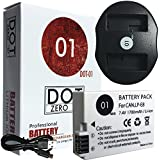 DOT-01 Brand 1700 MAh Replacement Canon LP-E8 Battery And Dual Slot USB Charger For Canon EOS Rebel T4i Digital SLR Camera And Canon LPE8