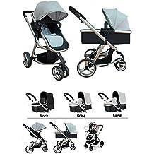 Star Ibaby Go Baby UP - Cochecito de bebe con silla, capazo y burbuja de lluvia, color Sand