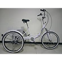 SCOUT TRIKES - Triciclo para Adultos, Marco Plegable con suspensión, Ruedas de 24 Pulgadas