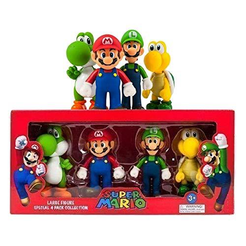 Super Mario groß 4 Figur Sammlung Paket