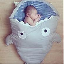 Cartoon bebé tiburón saco de dormir recién nacidos saco de dormir Otoño Invierno Swaddle Manta Saco de carritos cama manta Swaddle Wrap–Ropa de cama