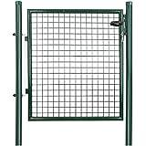 Songmics Puerta para jardín de hierro 100 x 100 cm GGD150G