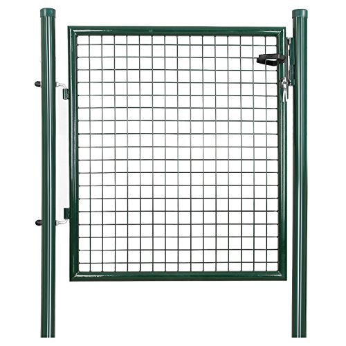 Songmics portillon de jardin 100 x 106 cm avec serrure for Dimension portillon
