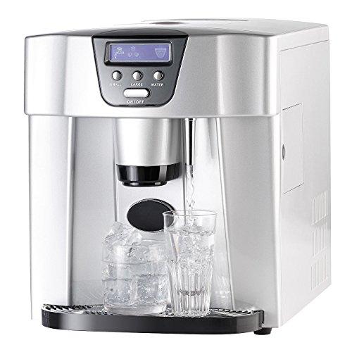 Rosenstein & Söhne Eiswürfelspender: Eiswürfelmaschine EWS-2300, Eis- und Wasserspender (Wasserspender mit Eiswürfel) - Kühlschränke Mit Ice Maker