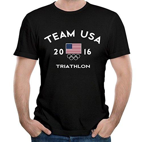 Herrens Team USA Triathlon Rio 2016 Olympic Short Slev Tee Tshirt 3XL
