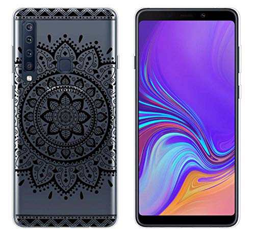 yayago Hülle für Samsung Galaxy A9 2018 Silikon Schutzhülle Hülle Case Backcover Tattoo Ornament Tribal Design transparent Tasche