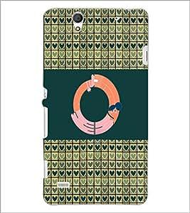 PrintDhaba GRANDbet O D-4147 Back Case Cover for SONY XPERIA C4 (Multi-Coloured)