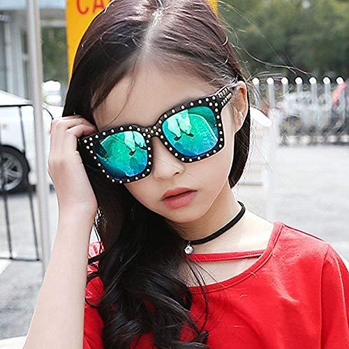 GONGFF Modische Box Kinder Sonnenbrille Sonnenbrille Wild Rivets Baby Brille