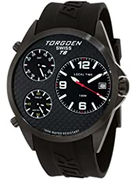 Torgoen T08304 - Reloj analógico de cuarzo para hombre con correa de plástico, color negro