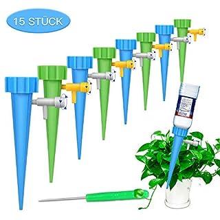 Automatisch Bewässerung Set ,FYLINA 15 Stück Einstellbar Bewässerungssystem Garten zur Pflanzen Bewässerung Blumen Bewässerung Zimmerpflanze Bewässerung Ideal Wasserversorgung Während Ihrem Urlaub