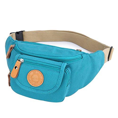 CHENGXIAOXUAN Mini Damen Geldbeutel Brusttaschen Leinwand Lässig Stilvoll Einfach Wild Klein Personalisierte Radfahren Reisen Paket Blue
