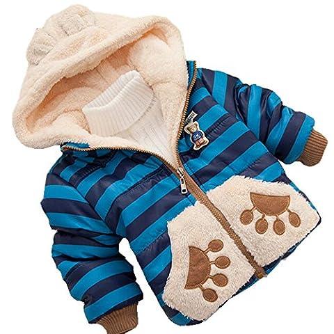 xhorizon garçons enfants Manteau de bébéTeddy Ours Veste d'hiver 1-5 ans