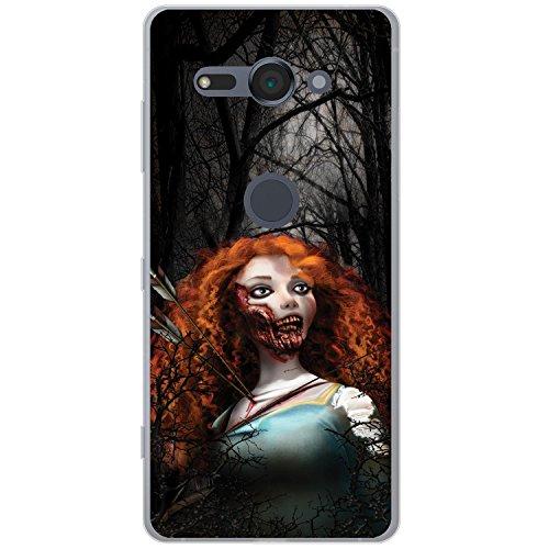 Fancy A Snuggle zombie Princess Fairy Tale Happy Ever After cover/custodia rigida per Sony cellulari, Scottish Zombie Princess Arrow, Sony Xperia XZ2 Compact