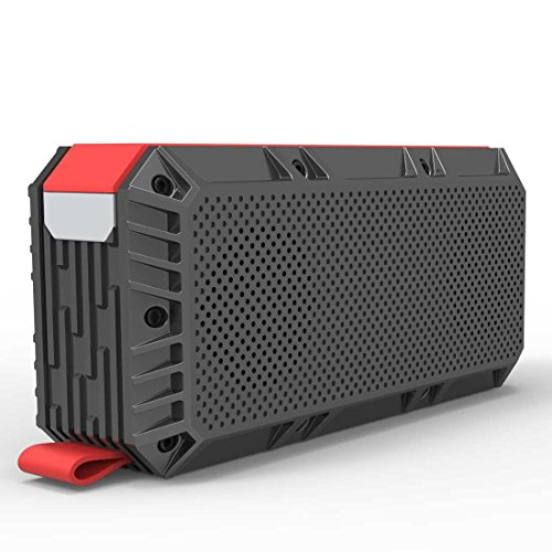 Hieha Hi-2.1 Altavoz Bluetooth Portatil Potente Parlante Impermeable IPX6 TF Tarjeta FM Radio Micrófono Estéreo Inalámbrico Radiador Pasivo para IOS Android, Garantía de 24 meses en 12 horas
