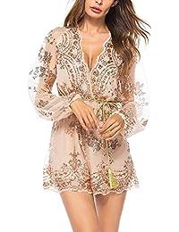 Mujer 2 Pedazos Set Crop Top Y Faldas Verano Fashion Classic A Clásico  Cuadros Vintage Casual Beach Conjunto Sin Mangas V-Cuello Chicos… 1302fe5aa406