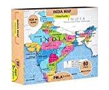 #8: Pola Puzzles India Map Tiling Puzzles 60 Pieces For Kids Age 5 years and above Multi Color Size 36CM X 21CM Jigsaw Puzzles for Kids