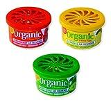 Organic Can Duftset 1 / Duftdose Autoduft je 1 Dose - grüner Apfel - Zitrone - Erdbeere