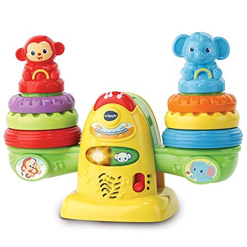VTech Animo empilo basculo - Juegos educativos (Multicolor, Niño/niña, 1 año(s), 3 año(s), Francés, AAA)