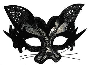 Zoelibat 97229441.008-Maya Lulu, Ojo de Gato con Orejas Máscara Máscara, Color Negro
