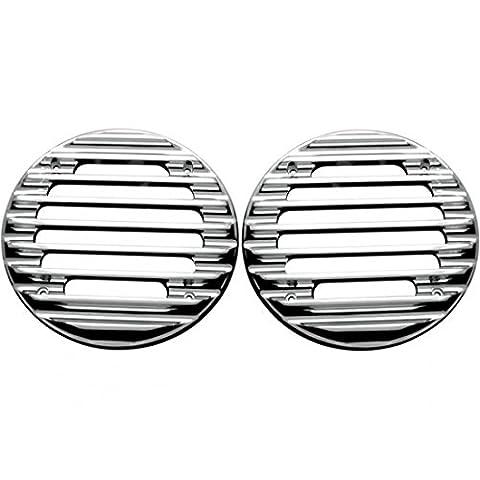 Speaker grills, ultra, rear, finned, chrome - c0022-c - Covingtons 44050245