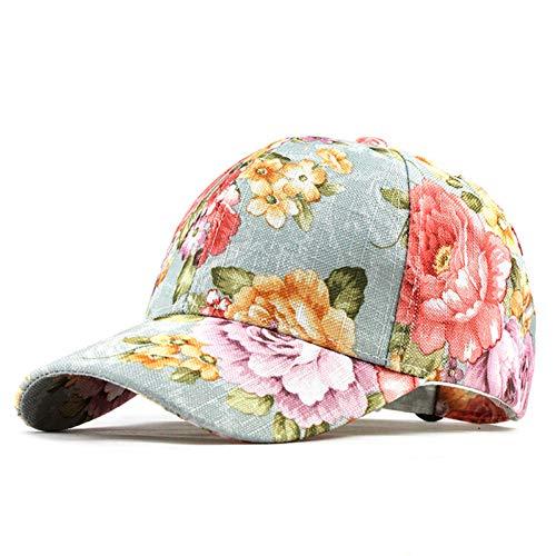 CXKNP Baseball Cap Blumen Baumwolle Mütze Snapback Hüte Für Männer Frauen Caps Casquette Hüte Floral Stickerei Cap Knochen (Snapback-hut Für Frauen)