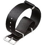 Cinturino di orologio militare G10 NATO di nylon da ZULUDIVER® Nero, 18mm