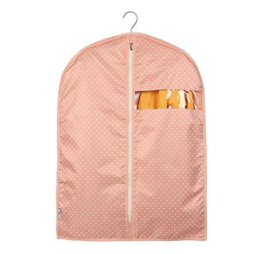 ZMXZMQ Premium-Qualität Kleidersack, Anzug Aufbewahrungshülle Mit Reißverschluss Für Smoking, Kleider, Mäntel, Jacken (5 Pack),pink,L