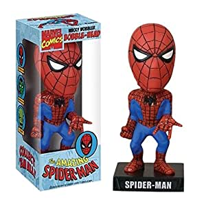 Figurine Funko Marvel Comics Amazing Spiderman tête vacillante Wacky Wobbler 18 cm