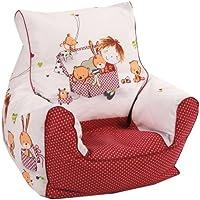 Knorr-baby - Puf de bolas infantil con forma de sillón (100% algodón, 50 x 50 x 50 cm)
